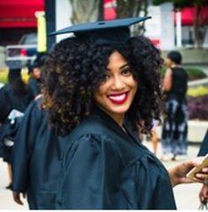 Graduation natural hair cap