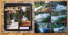We finally made it to the Benham Falls. Travel Scrapbook Pages, Scrapbook Cover, Vacation Scrapbook, Scrapbook Page Layouts, Scrapbooking Ideas, Canada Holiday, My Road Trip, Us Holidays, Photo Layouts