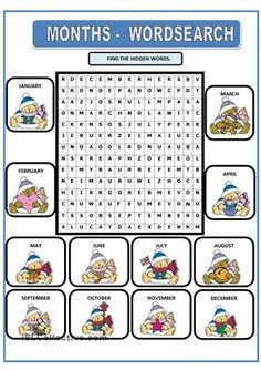 It's a wordsearch. - ESL worksheets Kids English, English Lessons, Learn English, English Vocabulary, English Grammar, Teaching English, English Worksheets For Kids, English Activities, Kindergarten Anchor Charts