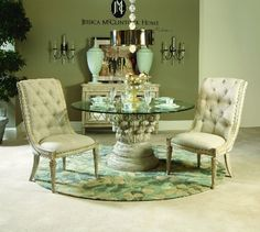 217-702 American Drew Furniture Jessica Mcclintock - The Boutique Round Dining Table