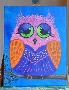 Owl by Deb - from the Art Sharpa's youtube video.
