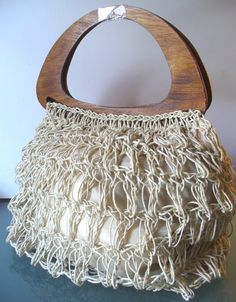 Vintage Made in Italy Extra Large Macrame Tote Bag by EurotrashItaly on Etsy