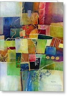 Abstract Painting - Crossroads 2 by Hailey E Herrera Watercolor Paintings Abstract, Painting & Drawing, Art Paintings, Contemporary Abstract Art, Modern Art, Painting Inspiration, Collage Art, Art Lessons, Artwork