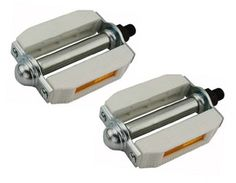"""M.T.B Pedals 861 1//2/""""  WHITE bmx bicycle pedal.road bicycle pedal PLASTIC 1//2"""