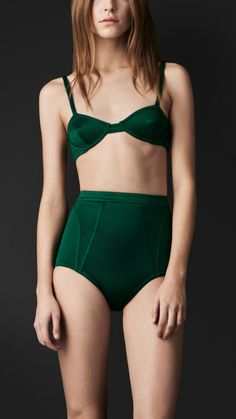 Burberry Prorsum - Vintage-Inspired Jersey Bralet and high-waist briefs