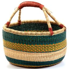 Bolga Baskets - buy them free trade and fill yourself and the basket with warm fuzzies!