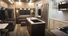 Customize your own furniture and decor in your own Luxe 39FB Elite Fifth Wheel Luxury Fifth Wheel, 5th Wheels, Build Your Own, Floor Plans, Kitchen Appliances, Flooring, Building, Furniture, Home Decor