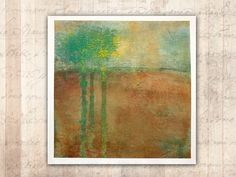 Original Painting of Trees in Fall Landscape — Unframed Painting on Paper in Cold Wax and Oil Original Art, Original Paintings, Vinyl Sleeves, Women Poetry, Santa Rosa Beach, Different Textures, Oil Painting Abstract, Vintage Photos, Landscape