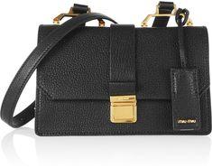 Miu Miu Madras Small Textured-Leather Shoulder Bag - $1,530.00