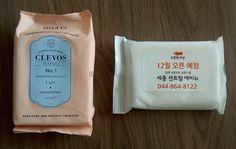 韓国でプロモーションのために配られるのはこういう濡れティッシュ