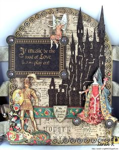 Scattered Pictures and Memories: Enchanted Forest Fairy Tale Triptych ~ Creative Embellishments
