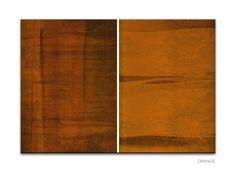 Volume - Pixel Prints modern digital canvas art print, in Orange