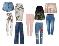 """""""Sin título #5"""" by kaarla-jimenez on Polyvore featuring moda, Gucci, Ashish, Citizens of Humanity, House of Holland, LE3NO, River Island, Ted Baker, Miss Selfridge y MANGO"""