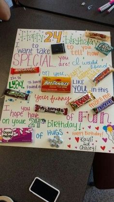 happy birthday candy cards - Google Search