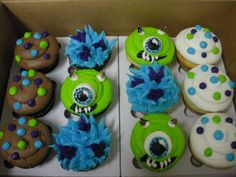 Monsters, Inc. cupcakes