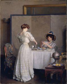 'Tea Leaves', 1909 ~  William McGregor Paxton (American, 1869–1941)