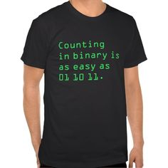 Counting in Binary Tee Shirt