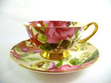 Cascade Vintage Style Bone China Teacup and Saucer NEW ** Slight Seconds