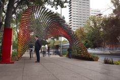 Built by Rojkind Arquitectos in Ciudad de Mexico, Mexico with date 2012. Images by Jaime Navarro. This portal, conceived through spatial design, activated by the city dwellers and the everyday stimuli of Mexico City...