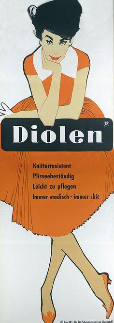 Diolen by Rene Gruau (1960)