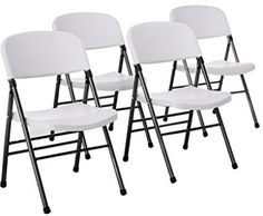 Cosco Resin Folding Chair with Molded Seat and Back White Speckle >>> Find out more about the great product at the image link. (This is an affiliate link) Best Folding Chairs, Plastic Folding Chairs, Folding Seat, Deep Seat Cushions, Chair Cushions, Party Chairs, Chair Pictures, Custom Cushions