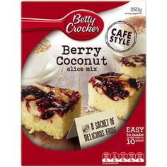 Cafe Style Berry Coconut Slice Mix  #theBest