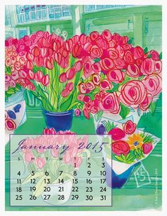 "Happy New Year, Gentle Reader!   Fine Art Daily Monday, January 5, 2015   Here is your Nearly Green Calendar for January 2015.   ""If winter comes, can spring be far behind?"" ― Percy Bysshe Shelley"