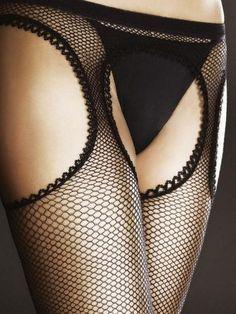 Collant ouvert sexy résille effet bas porte-jarretelle femme Fiore 05003  passion eab1f24c3fd