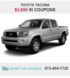 Check our #coupon savings on this #ToyotaTacoma !!! Incredible !! Visit us at www.wowcarcoupon.com for extra savings today!!  #wowcarcoupon