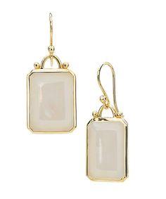 Elizabeth Showers Mother Of Pearl Deco Earrings #maxandchloe