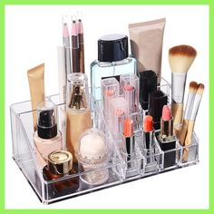 Jewelry Storage Box Lipstick Makeup Dresser Holder Container Home Organizer Accessories Supplies Gear Stuff Product