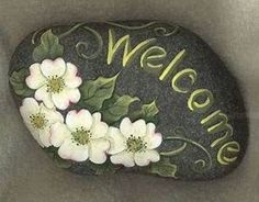 cat and moon rock design. rock paintingslee wismerdecorockartdecorative paintingyard and garden decorationswelcome signscottage markers. view in gallery googly monster rock magnets. painted rock love this ocean waves design with the mixed patterns and the Pebble Painting, Pebble Art, Stone Painting, Rock Painting Designs, Paint Designs, Painting Patterns, Painting Stencils, Stone Crafts, Rock Crafts