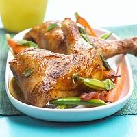 Chicken with Asparagus and Peas