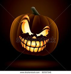 Scary Jack O Lantern Stock Vector (Royalty Free) 82598068 Halloween Pumpkin Designs, Halloween Labels, Vintage Halloween, Halloween Pumpkins, Halloween Crafts, Halloween Stuff, Spooky Halloween, Halloween Makeup, Happy Halloween