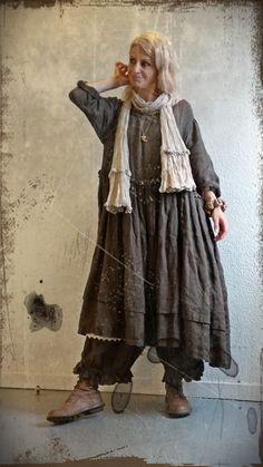 Les Chiffons de Pucerone : La Robe Suzon, le Panty Swan & l'écharpe en lin ficelle