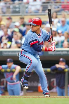 Jun 5, 2014; Minneapolis, MN, USA; Minnesota Twins right fielder Oswaldo Arcia (31) at bat in the first inning against the Milwaukee Brewers at Target Field. Mandatory Credit: Brad Rempel-USA TODAY Sports