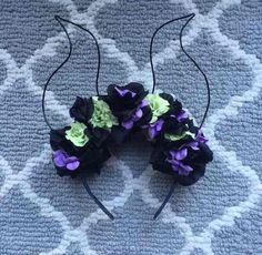 Maleficent Floral Horn  Ears *handmade*