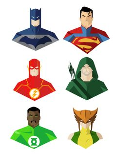 Minimalist DC Heroes by Paul Medalla