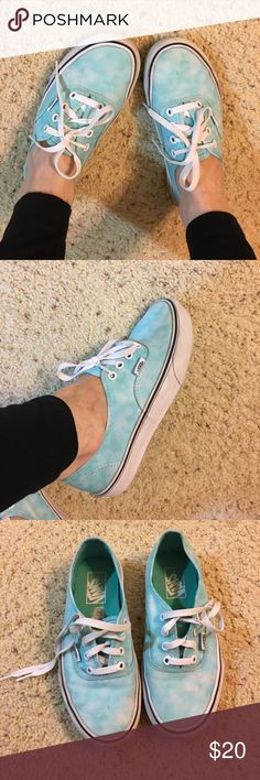 Great cond Vans sneakers Super cute great condition size 6.5 in womans blue and white vans sneakers Vans Shoes Sneakers