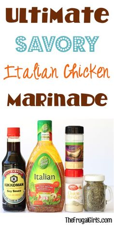 Savory Italian Chicken Marinade Recipe! ~ from TheFrugalGirls.com ~ whether grilling or baking your chicken in the oven, this easy marinade is the perfect way to soak in loads of delicious flavors to your meat! #marinades #recipes #thefrugalgirls