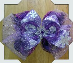 Boutique Stacked Hair Bow Made by Norma's Unique Gift Baskets.$8.