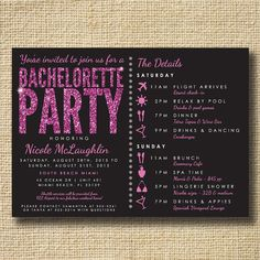 Maybe in blue? Bachelorette Party Invite Stagette Party Invite by creativelime