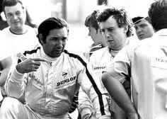 "Pedro Rodríguez de la Vega (MEX) (Yardley Team BRM), BRM P153 - BRM 3.0 V12 (RET) Keith Jack ""Jackie"" Oliver (GBR) (Yardley Team BRM), BRM P153 - BRM 3.0 V12 (RET) 1970 German Grand Prix, Hockenheimring"