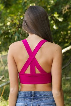 Behind The Panes Bralette-Raspberry - New Today | The Red Dress Boutique
