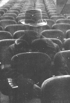 The Ghost in Seat J-47 of Hibbing High School's Auditorium. Photo by Chuck Perry.