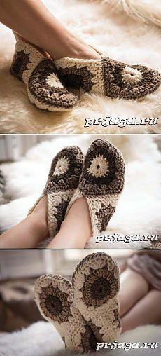 Victoriya Ismailova: «Thank you Crochet Granny, Crochet Motif, Crochet Baby, Knit Crochet, Crochet Patterns, Crochet Boots, Crochet Clothes, Knitted Slippers, Crochet Accessories
