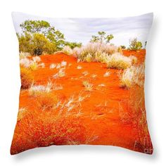 Australian Red Centre Series By Lexa Harpell Throw Pillow featuring the photograph Sand Dunes #2 Of The Red Centre - Australia by Lexa Harpell