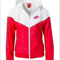 NOT SELLING ***** looking for this jacket Looking for this Nike windbreaker in this color or the black and white one. Help me please it's sold out everywhere :( Nike Jackets & Coats - 2019 Sporty Outfits, Nike Outfits, Athletic Outfits, Red Nike Jacket, Sports Jacket, Cute Jackets, Jackets For Women, Outerwear Women, Outerwear Jackets