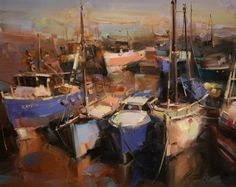 "Seascape Award of Excellence $1,100 $500 cash donation funded by OPA, Merchandise certificates funded by: $500 Rosemary & Company, $100 New Wave Fine Art Products. Vahe Yeremyan ""Harbor"" $2,200 16"" x 20"""