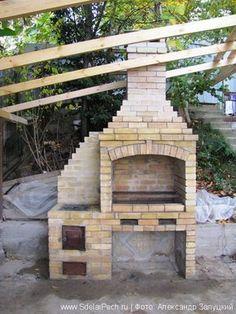 Brick Grill, Patio Grill, Barbecue Design, Grill Design, Outdoor Kitchen Patio, Outdoor Living, Garden Fountains For Sale, Parrilla Exterior, Built In Braai